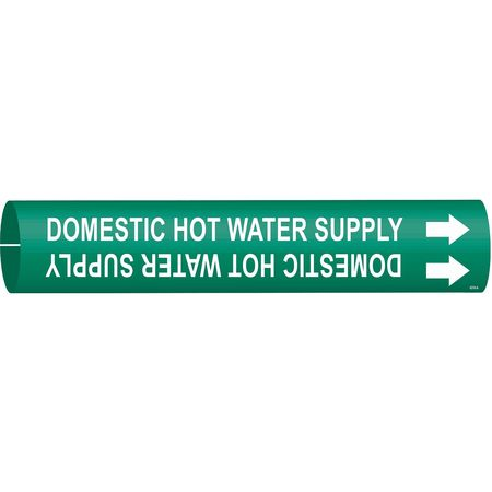Pipe Marker, Domestic Hot Water Supply, Gn