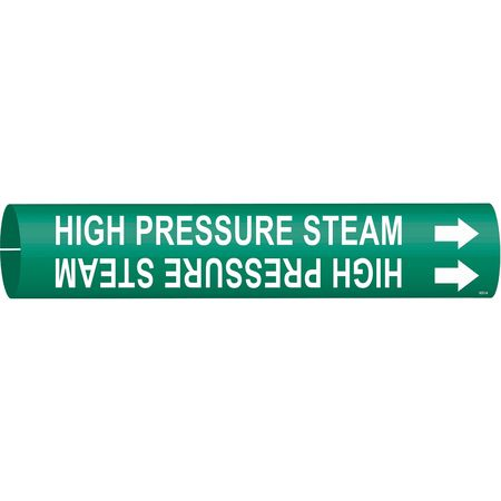Pipe Marker, High Pressure Steam, Green