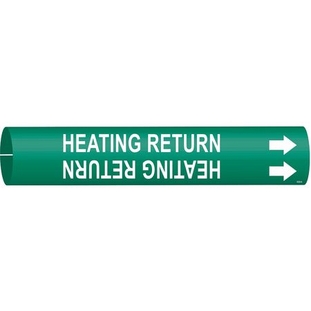 Pipe Marker, Heating Return, 3/4to1-3/8 In