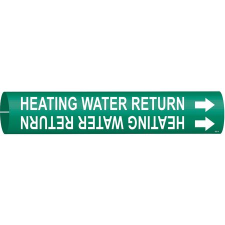 Pipe Marker, Heating Water Return, 4to6 In