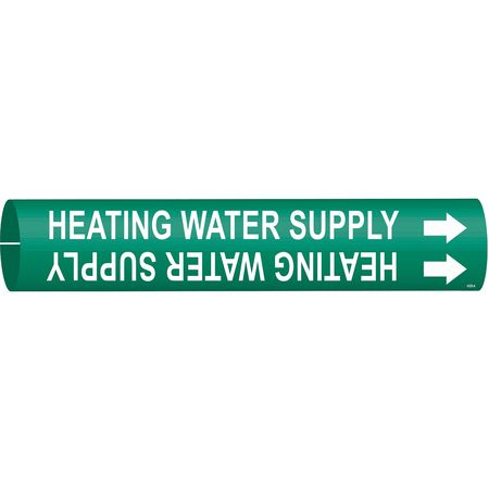 Pipe Marker, Heating Water Supply, Green
