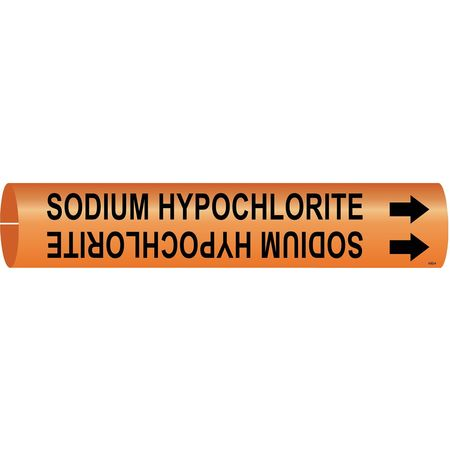Pipe Marker, Sodium Hypochlorite, 4 to6 In