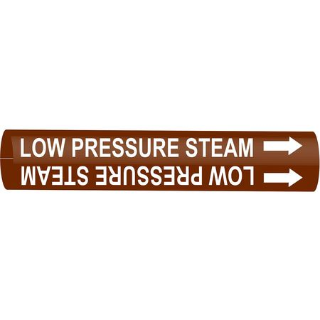 Pipe Marker, Low Pressure Steam, 10to15 In