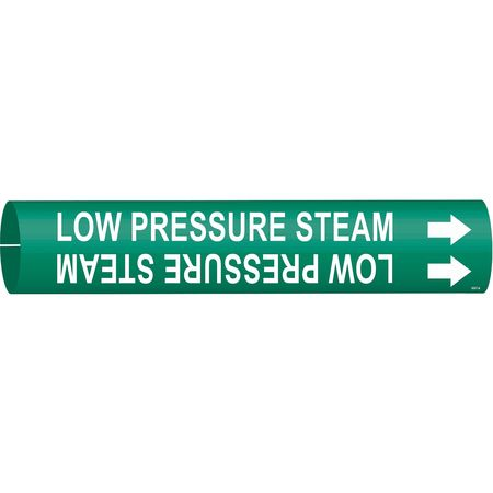 Pipe Mrkr, Low Pressure Steam, 3/4 to1-3/8