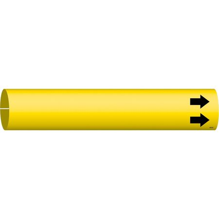 Pipe Marker, (Blank), Yellow, 4 to 6 In