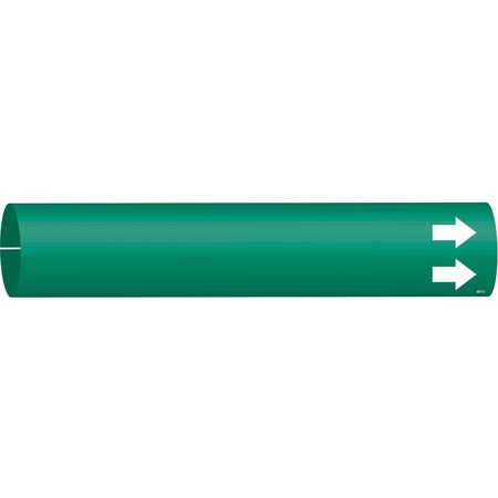 Pipe Marker, (Blank), Grn, 2-1/2 to3-7/8 In