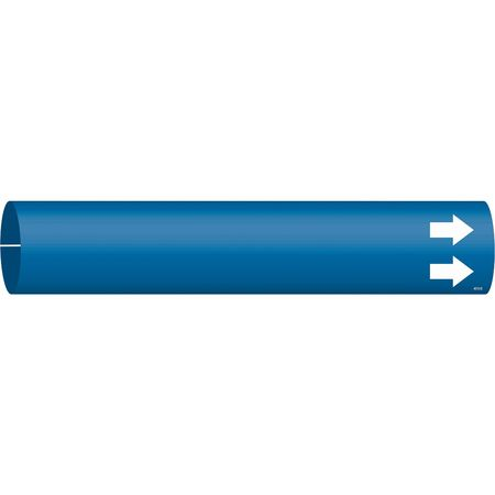 Pipe Marker, (Blank), Blue, 4 to 6 In