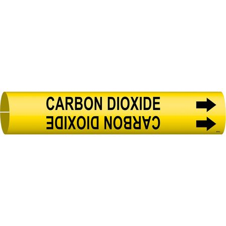 Pipe Mrkr, Carbon Dioxide, 2-1/2to3-7/8 In