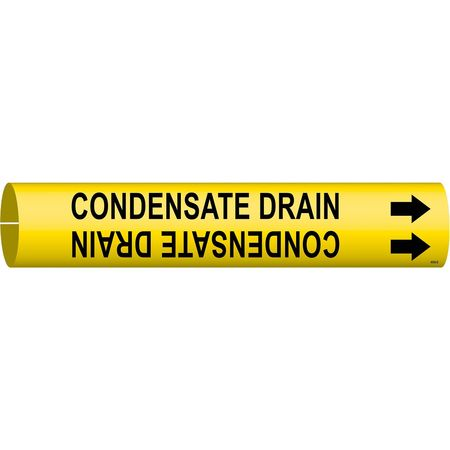 Pipe Marker, Condensate Drain, Y, 4 to6 In
