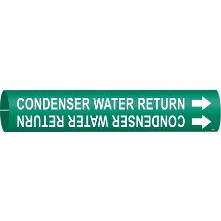 Pipe Marker, Condenser Water Return, Green