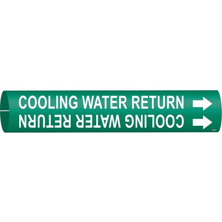 Pipe Marker, Cooling Water Return, Green