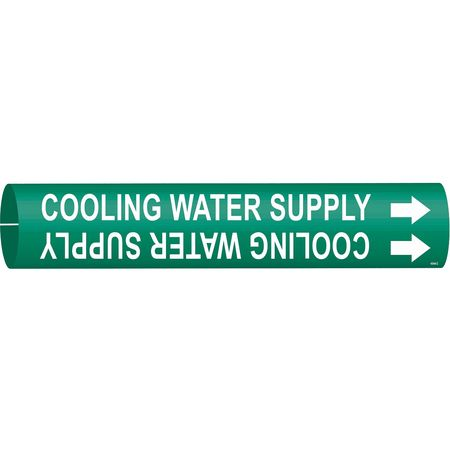 Pipe Marker, Cooling Water Supply, Green