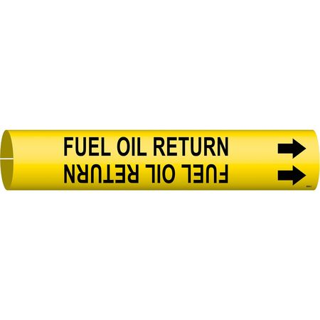 Pipe Mrkr, Fuel Oil Return, 2-1/2to3-7/8In