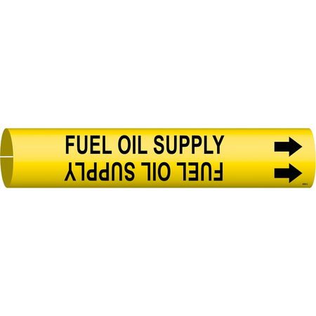 Pipe Mrkr, Fuel Oil Supply, 2-1/2to3-7/8In