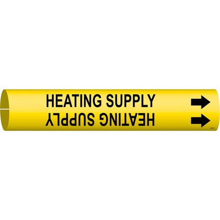 Pipe Mrkr, Heating Supply, 2-1/2to3-7/8 In