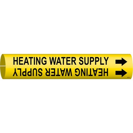 Pipe Marker, Heating Water Supply, 4to6 In
