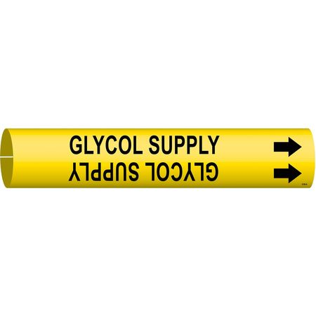 Pipe Markr, Glycol Supply, Y, 3/4to1-3/8 In
