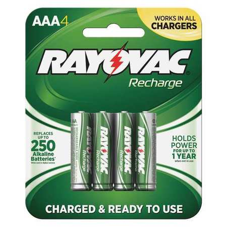 Precharged Recharg. Battery, AAA, NiMh, PK4