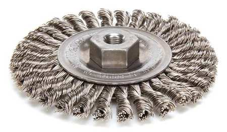 Small Angle Grinder Wire Brushes Stainless Steel Stringer Bead Twist Wheel Brushes