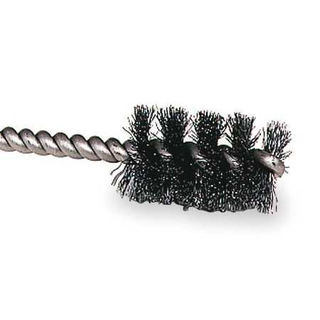 "Single Spiral Tube Wire Brush,  1/4"",  PK10"