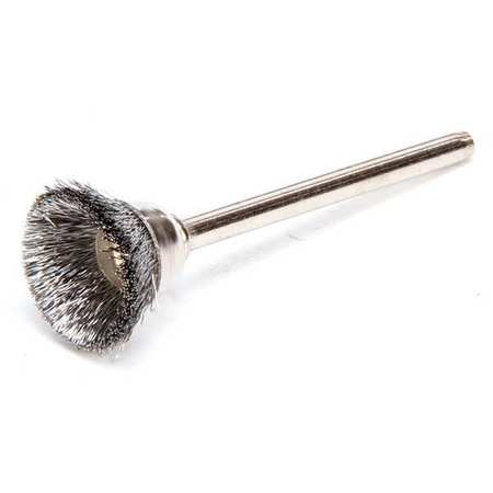 "Miniature Cup Wire Brush,  5/8"",  PK12"