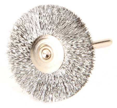 "Wire Wheel Wire Brush,  Stem,  1-1/4"",  PK12"