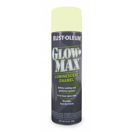 Glow In The Dark Spray Paint, Green, 15 oz