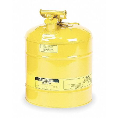Type I Safety Can, 5 gal, Ylw, 16-7/8In H