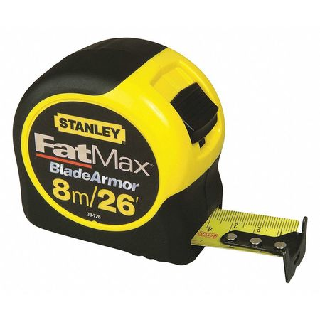 Tape Measure, 1-1/4 Inx26 ft, Yellow/Black