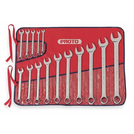 Combo Wrench Set, 5/16-1-1/4 in., 15 Pc