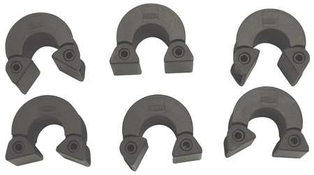 Strap Clamp Corner Clips, PK6