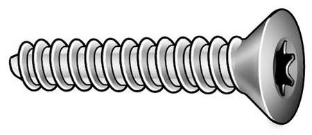 Metal Screw, #4-20, 1/4 In L, PK50