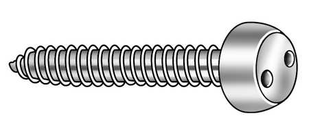 Tamper Screw, Pan, #8, 1/2 In L, PK25