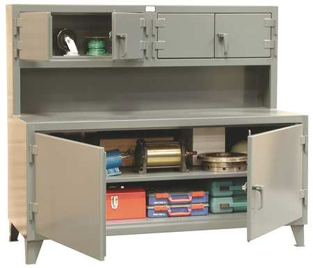 Beau Cabinet Workstation, Steel Top, W 72, H 62