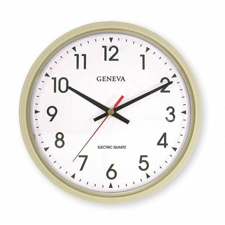 "14"" Analog Quartz Wall Clock,  Putty"