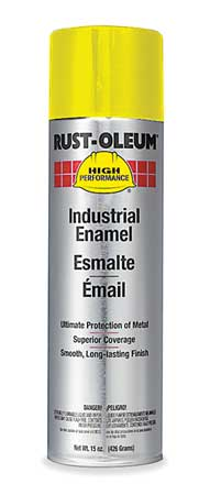 Spray Paint, Safety Yellow, 15 oz.