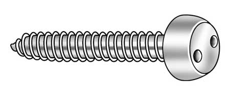 Tamper Screw, Pan, #8, 5/8 In L, PK25