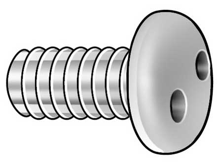 "#4-40 x 1/2"" Pan Head SPan Headner Tamper Resistant Screw,  50 pk."