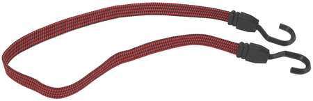 Bungee Cord, Hook, 12 In.L, 3/4 In.D, PK6