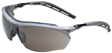 3M Gray Safety Glasses,  Anti-Fog,  Half-Frame