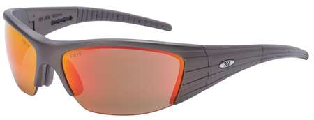 3M Red Mirror Safety Glasses,  Scratch-Resistant,  Half-Frame