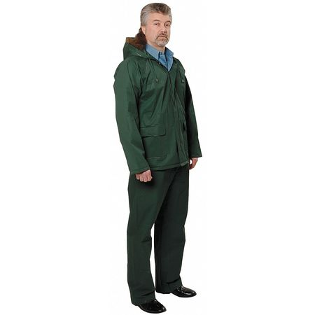 2 Piece Rainsuit w/Hood, Forest Green, L