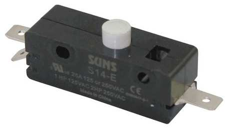 Snap Switch, 25A, 1 NO,  1 NC, Pin Plunger