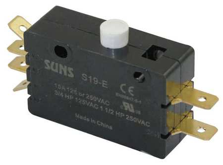Snap Switch, 15A, 2 NO,  2 NC, Pin Plunger