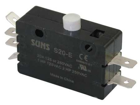 Snap Switch, 20A, 2 NO,  2 NC, Pin Plunger