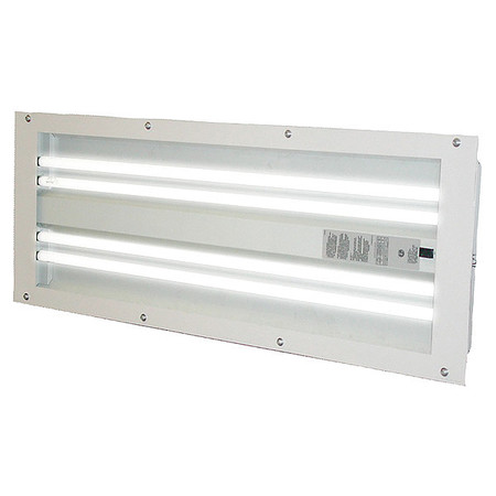T5 Spray Booth Light Fixture, 4 Tube