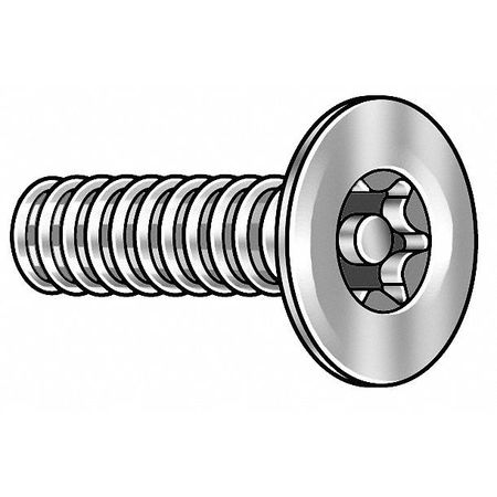 Mach Screw, Flat, 8-32x1 1/2 L, PK10