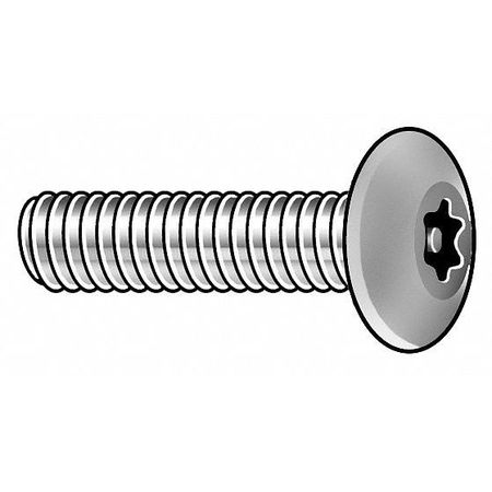 Mach Screw, Button, 8-32x1/2 L, PK25