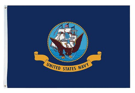 US Navy Flag, 5x8 Ft, Nylon