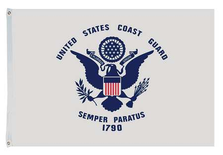 US Coast Guard Flag, 4x6 Ft, Nylon